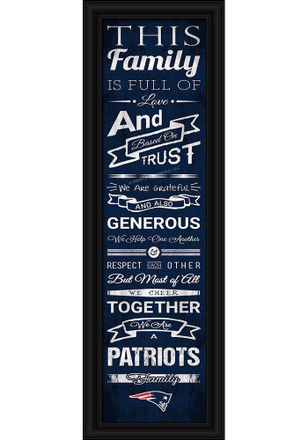 New England Patriots 8x24 Framed Posters