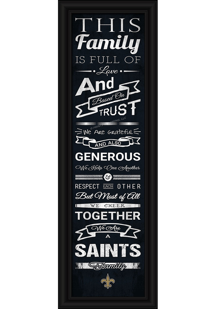 New Orleans Saints 8x24 Framed Posters - Image 1