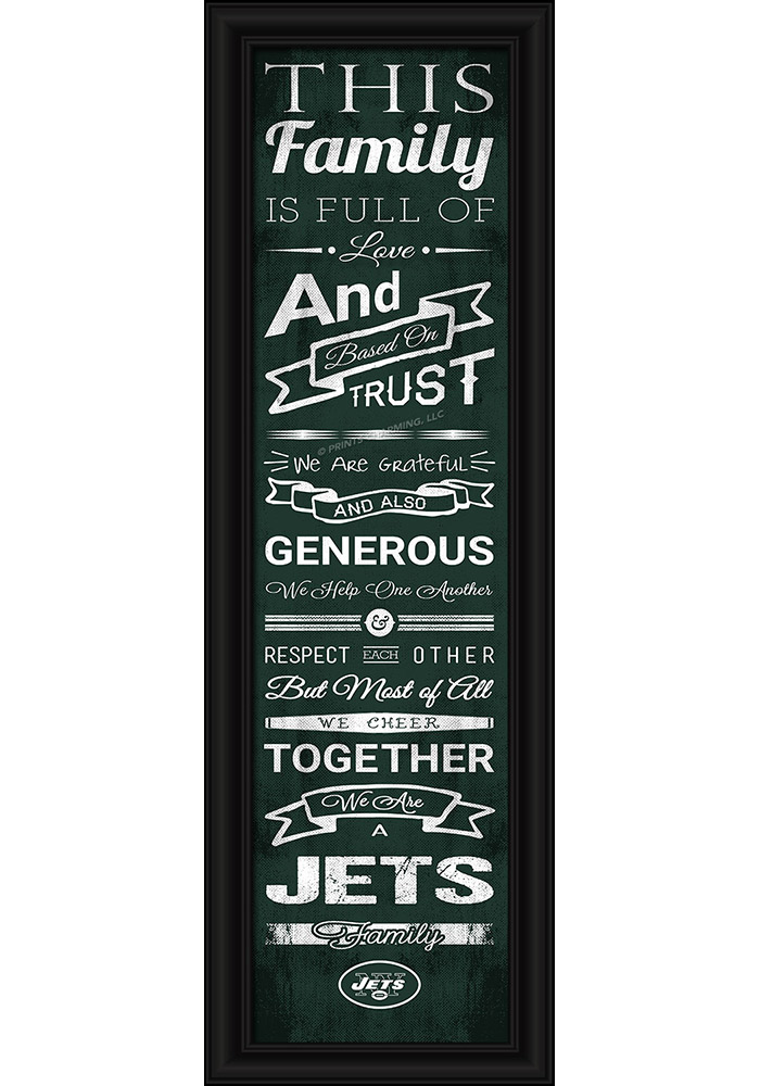 New York Jets 8x24 Framed Posters - Image 1