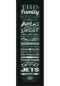 New York Jets 8x24 Framed Posters