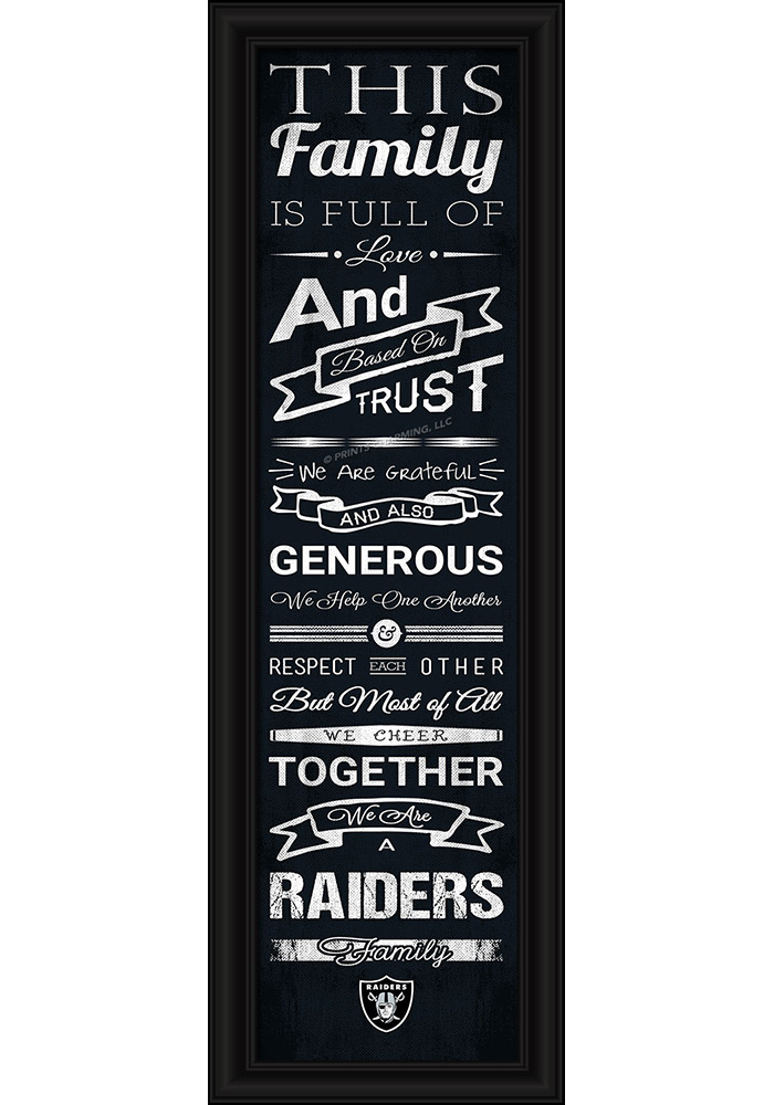 Oakland Raiders 8x24 Framed Posters - Image 1