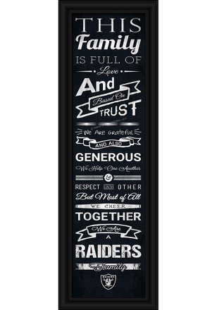 Oakland Raiders 8x24 Framed Posters