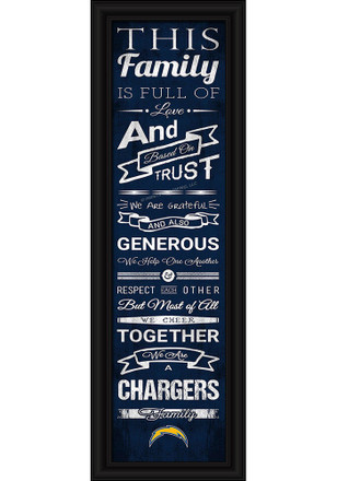 San Diego Chargers 8x24 Framed Posters