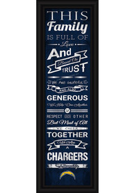 Los Angeles Chargers 8x24 Framed Posters