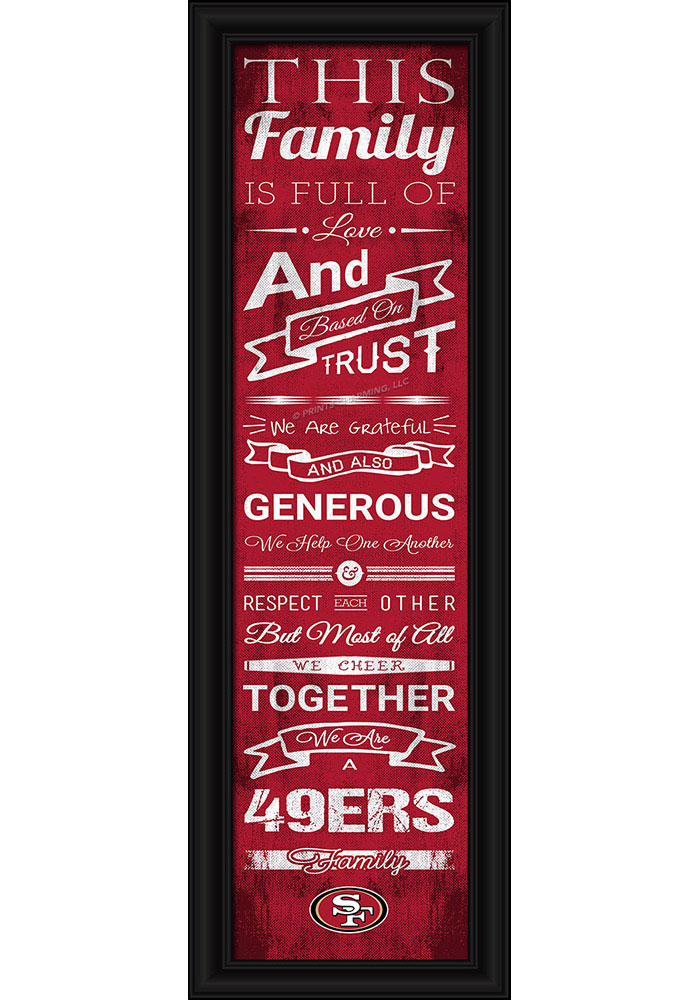 San Francisco 49ers 8x24 Framed Posters - Image 1