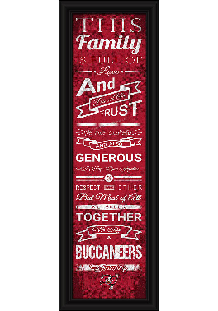Tampa Bay Buccaneers 8x24 Framed Posters - Image 1