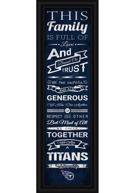 Tennessee Titans 8x24 Framed Posters