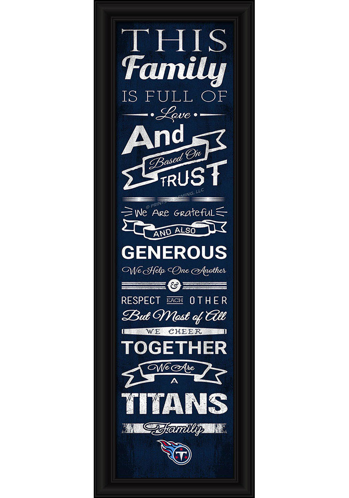 Tennessee Titans 8x24 Framed Posters - Image 1