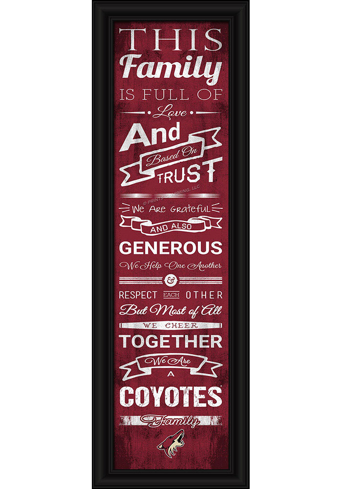 Arizona Coyotes 8x24 Framed Posters - Image 1