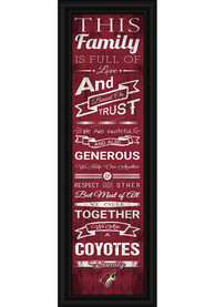 Arizona Coyotes 8x24 Framed Posters