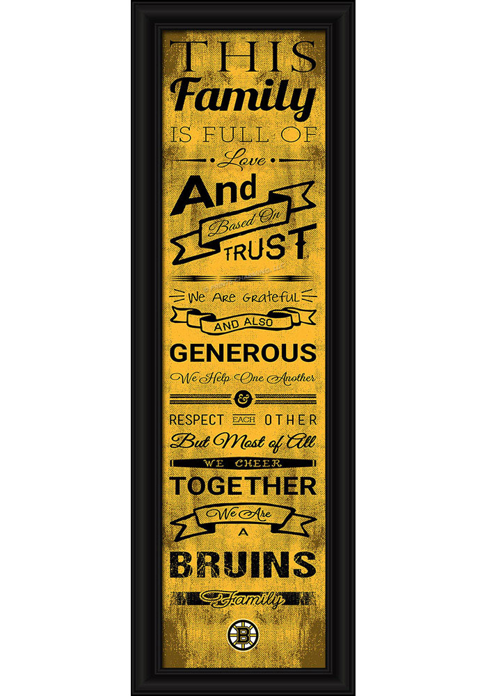 Boston Bruins 8x24 Framed Posters - Image 1