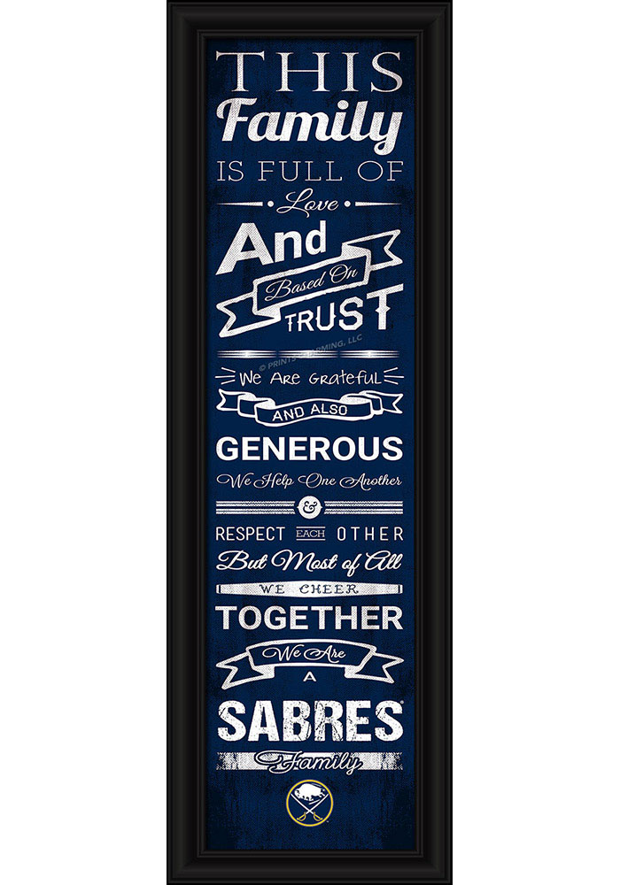 Buffalo Sabres 8x24 Framed Posters - Image 1