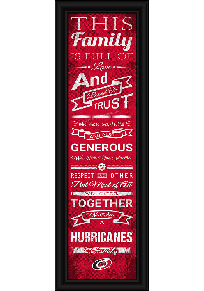 Carolina Hurricanes 8x24 Framed Posters - Image 1