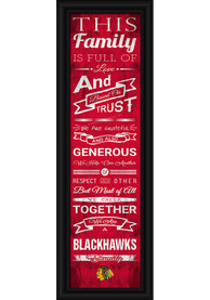 Chicago Blackhawks 8x24 Framed Posters