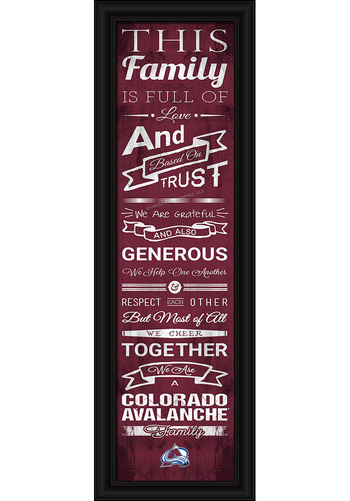 Colorado Avalanche 8x24 Framed Posters - Image 1