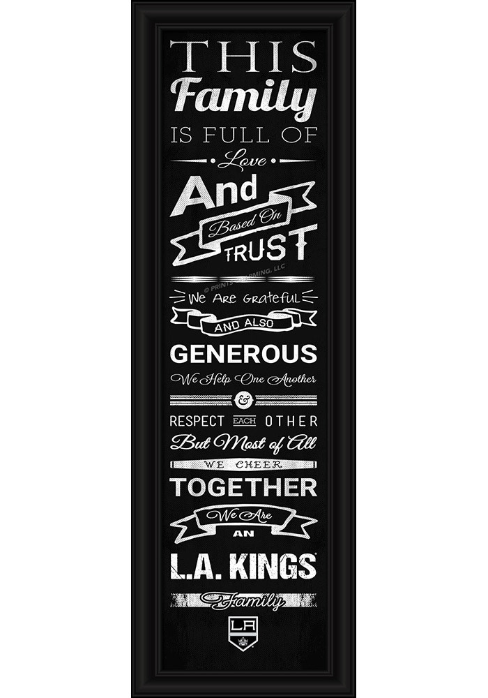 Los Angeles Kings 8x24 Framed Posters - Image 1