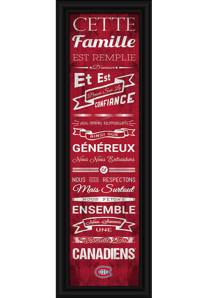 Montreal Canadiens 8x24 Framed Posters - Image 1