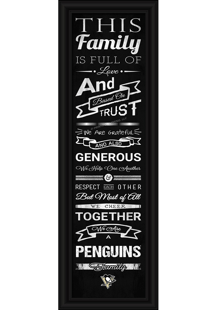 Pittsburgh Penguins 8x24 Framed Posters - Image 1
