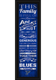 St. Louis Blues 8x24 Framed Posters