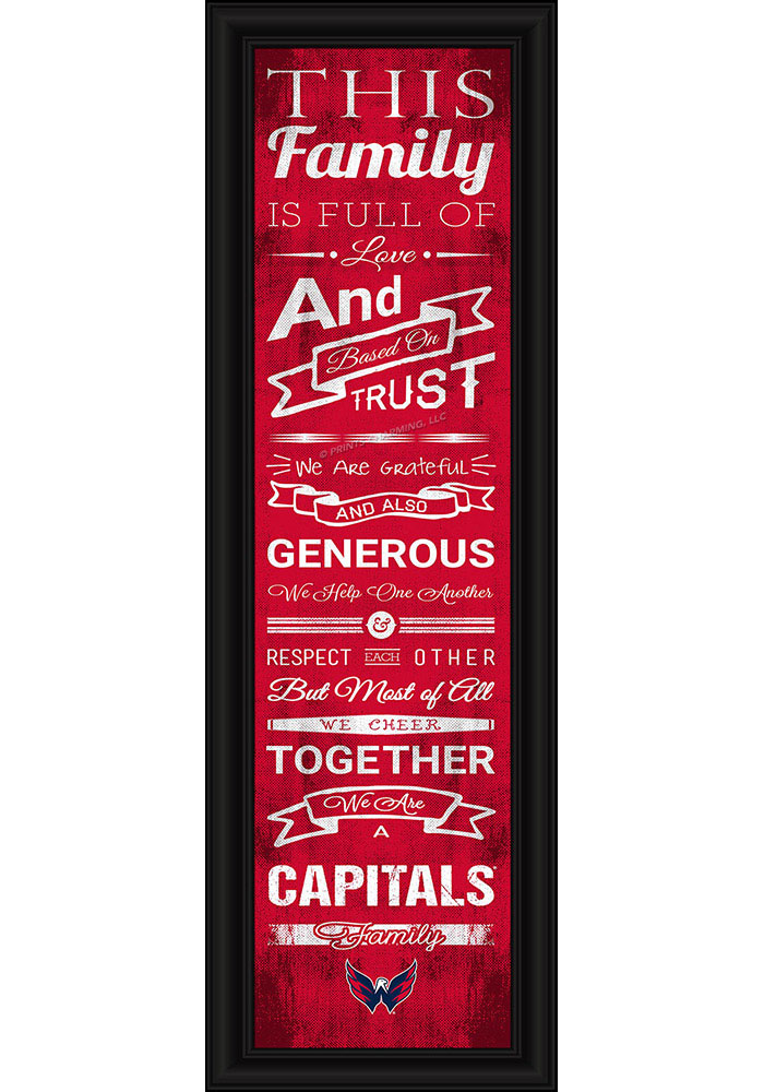 Washington Capitals 8x24 Framed Posters - Image 1