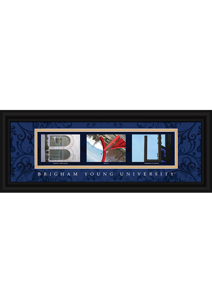 BYU Cougars 8x20 Framed Posters - Image 1