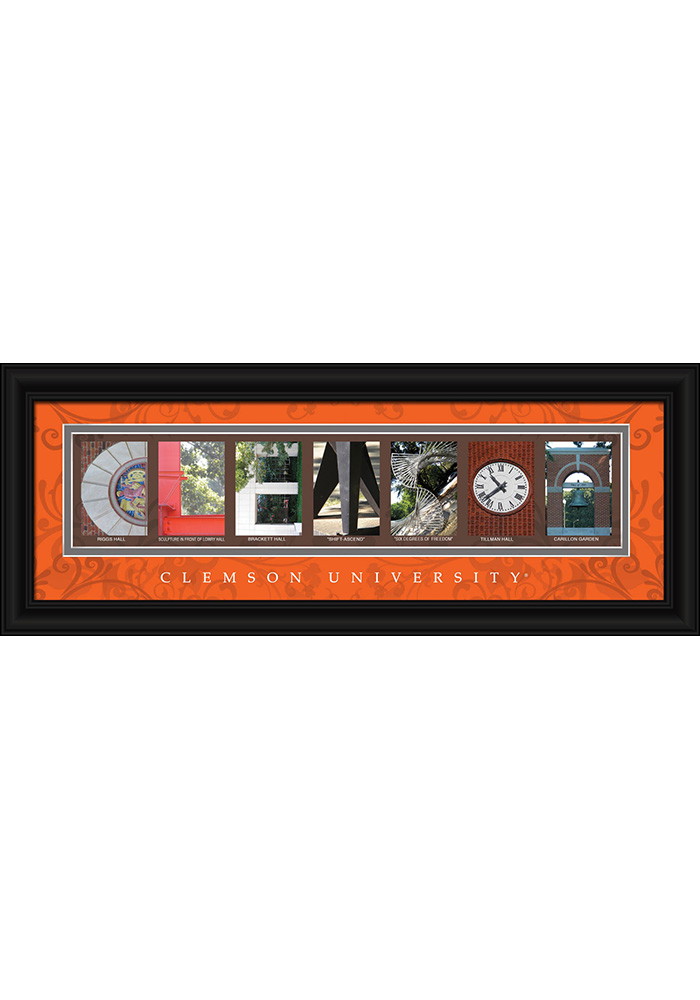 Clemson Tigers 8x20 Framed Posters - Image 1