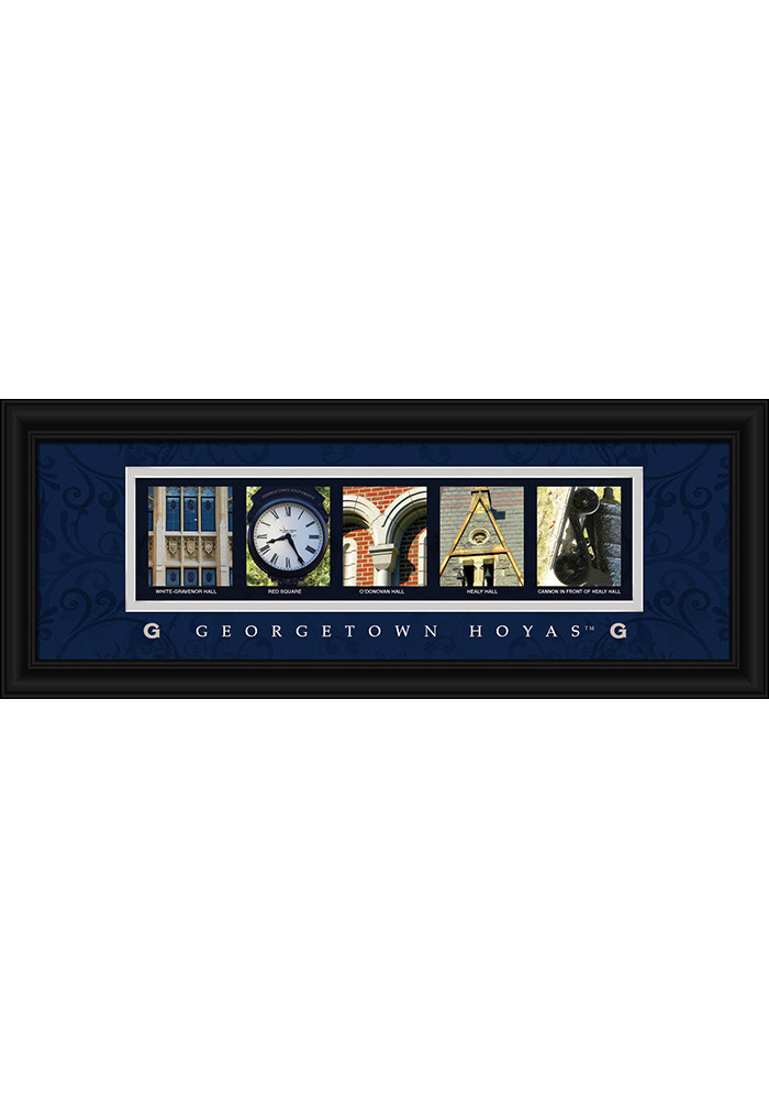 Georgetown Hoyas 8x20 Framed Posters - Image 1