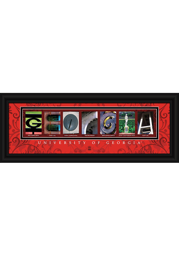 Georgia Bulldogs 8x20 Framed Posters - Image 1