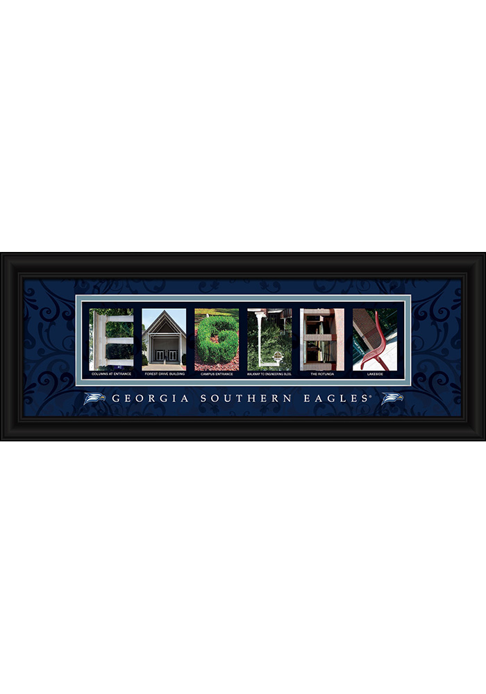 Georgia Southern Eagles 8x20 Framed Posters - Image 1