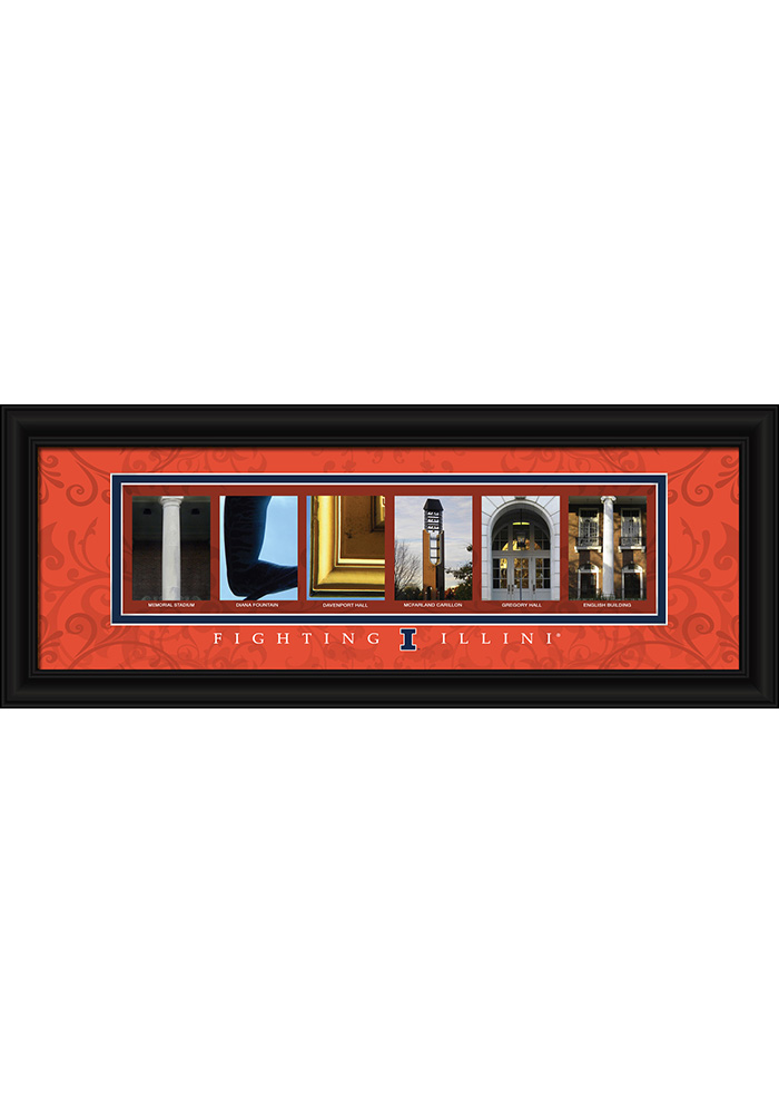 Illinois Fighting Illini 8x20 Framed Posters - Image 1
