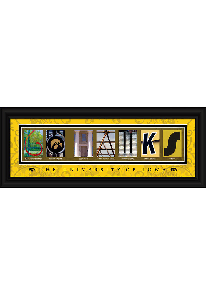 Iowa Hawkeyes 8x20 Framed Posters - Image 1