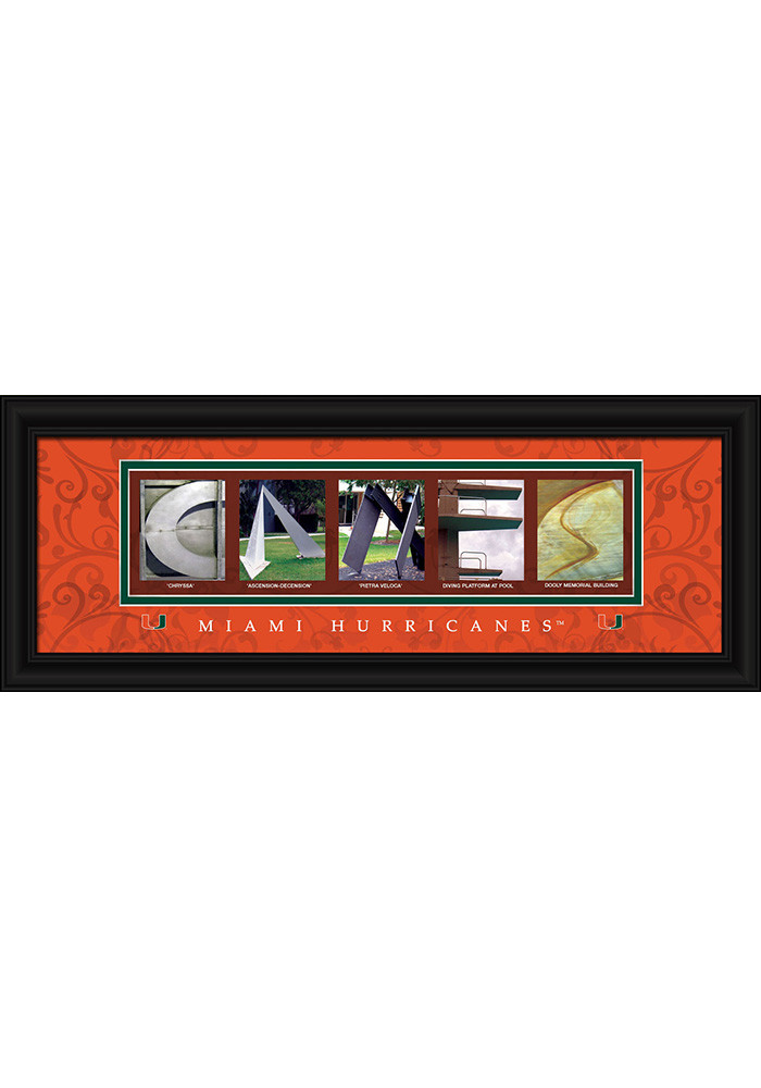 Miami Hurricanes 8x20 Framed Posters - Image 1