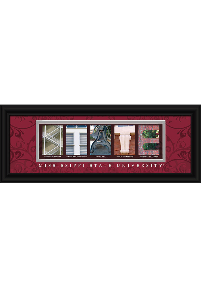 Mississippi State Bulldogs 8x20 Framed Posters - Image 1