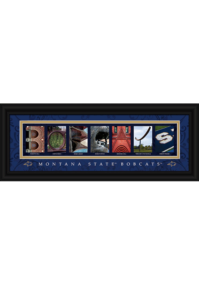 Montana State Bobcats 8x20 Framed Posters - Image 1