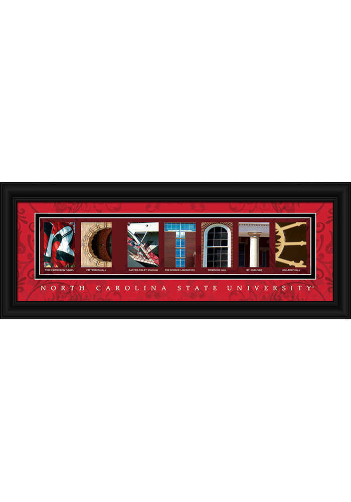 NC State Wolfpack 8x20 Framed Posters - Image 1
