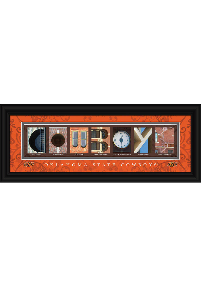 Oklahoma State Cowboys 8x20 Framed Posters - Image 1