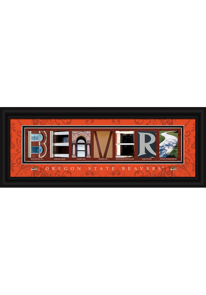 Oregon State Beavers 8x20 Framed Posters - Image 1