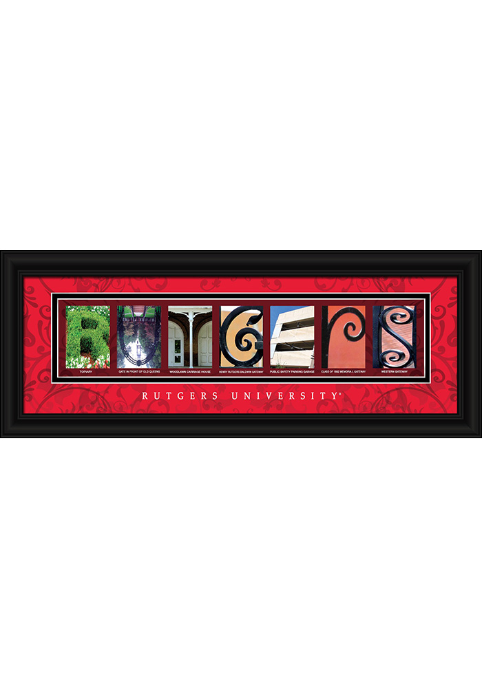 Rutgers Scarlet Knights 8x20 Framed Posters - Image 1