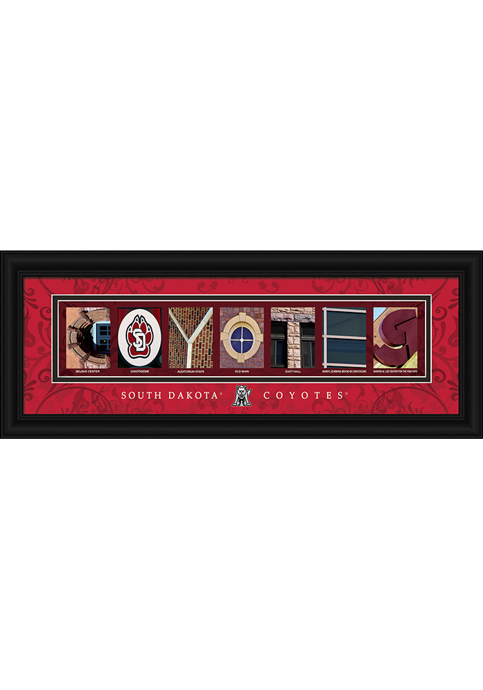 South Dakota Coyotes 8x20 Framed Posters - Image 1