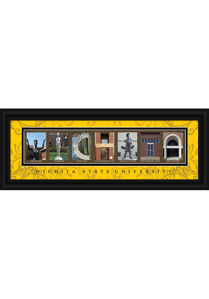 Wichita State Shockers 8x20 Framed Posters - Image 1