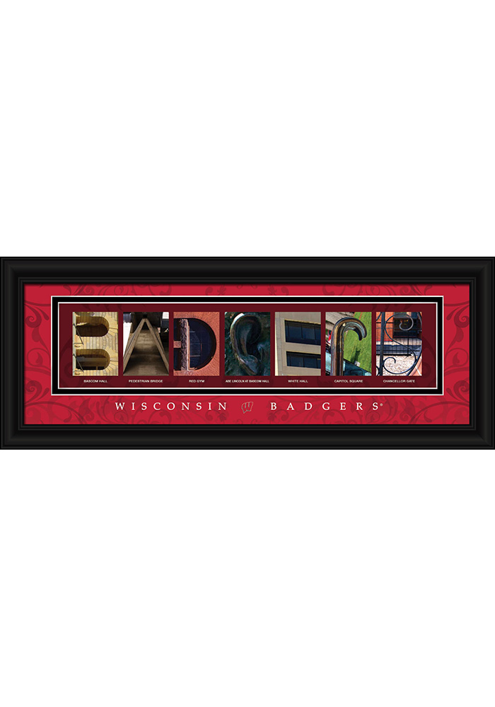 Wisconsin Badgers 8x20 Framed Posters - Image 1