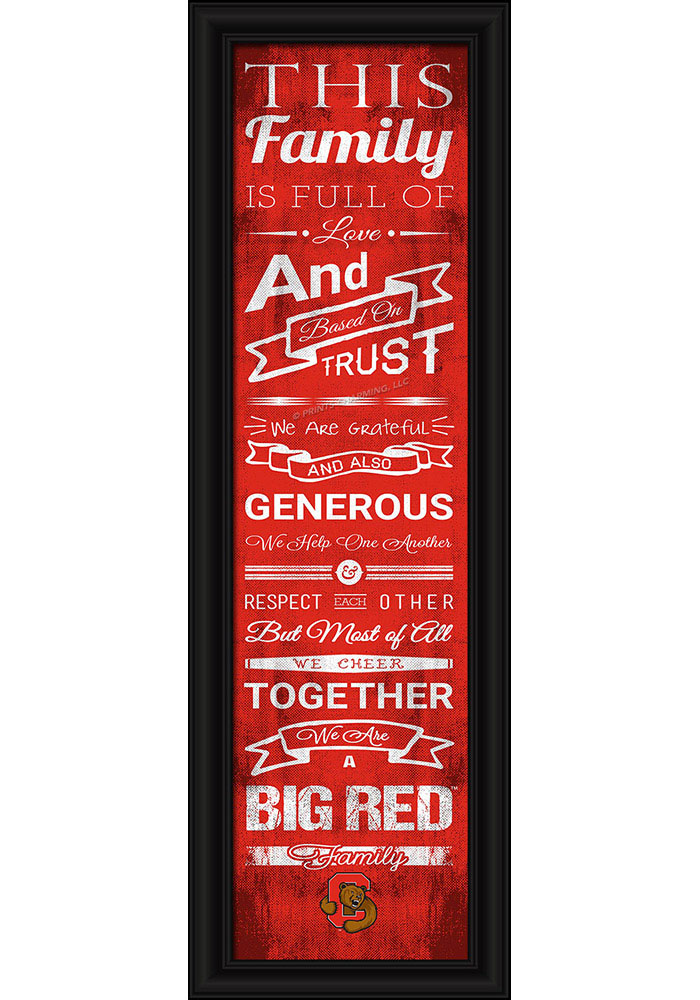 Cornell Big Red 8x24 Framed Posters - Image 1