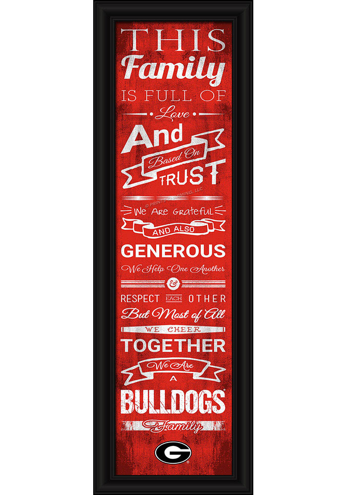 Georgia Bulldogs 8x24 Framed Posters - Image 1