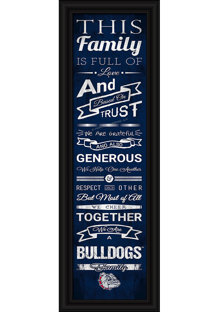 Gonzaga Bulldogs 8x24 Framed Posters - Image 1