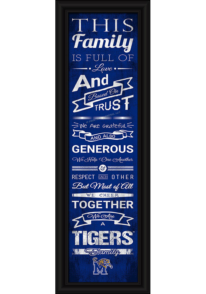 Memphis Tigers 8x24 Framed Posters - Image 1