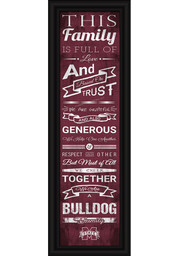 Mississippi State Bulldogs 8x24 Framed Posters