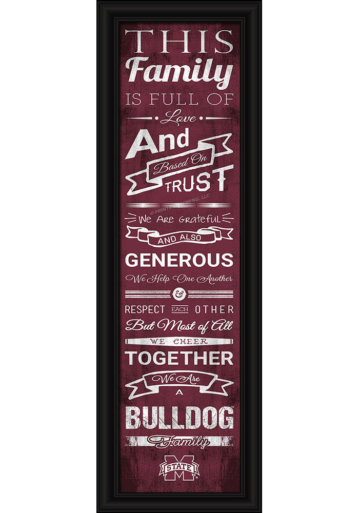 Mississippi State Bulldogs 8x24 Framed Posters - Image 1