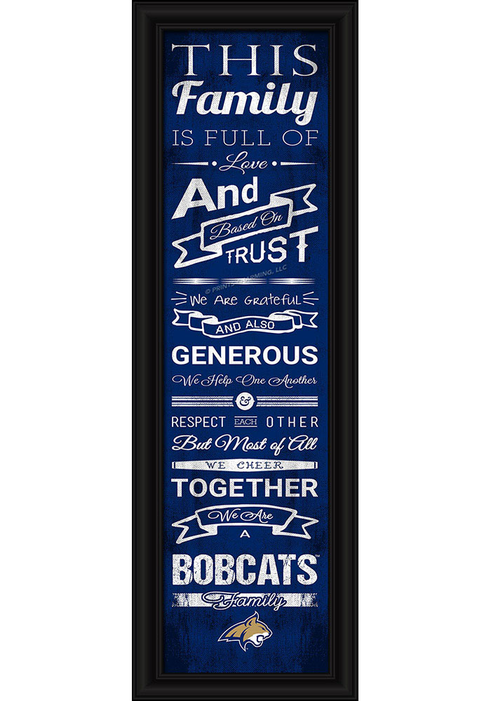 Montana State Bobcats 8x24 Framed Posters - Image 1