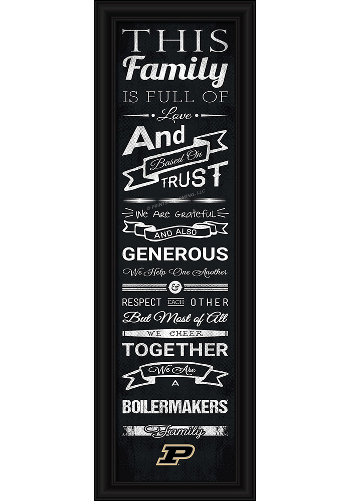 Purdue Boilermakers 8x24 Framed Posters - Image 1