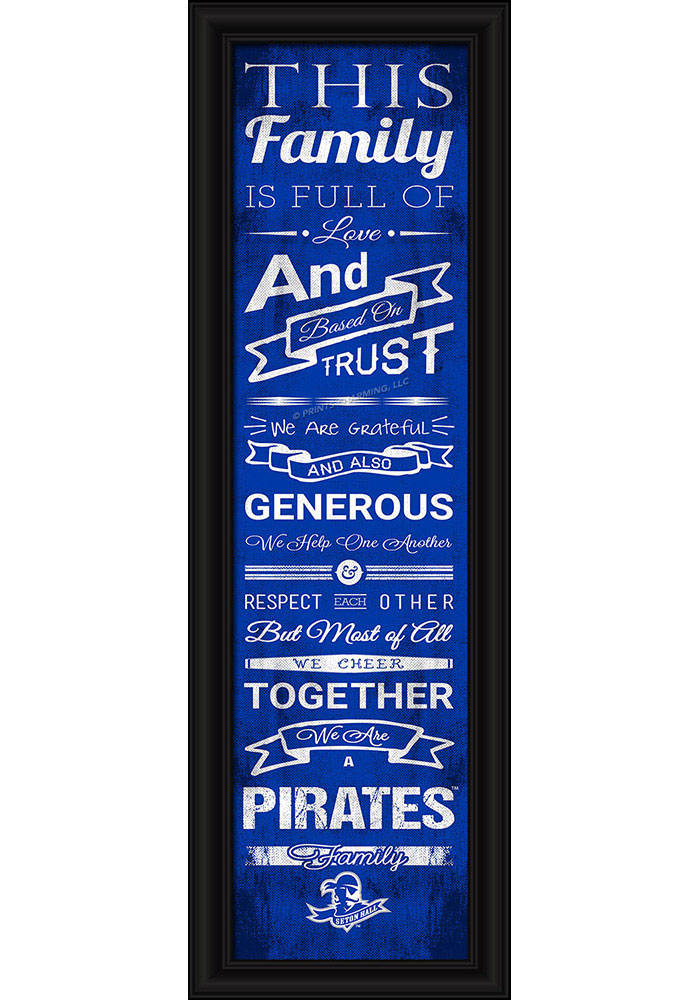Seton Hall Pirates 8x24 Framed Posters - Image 1